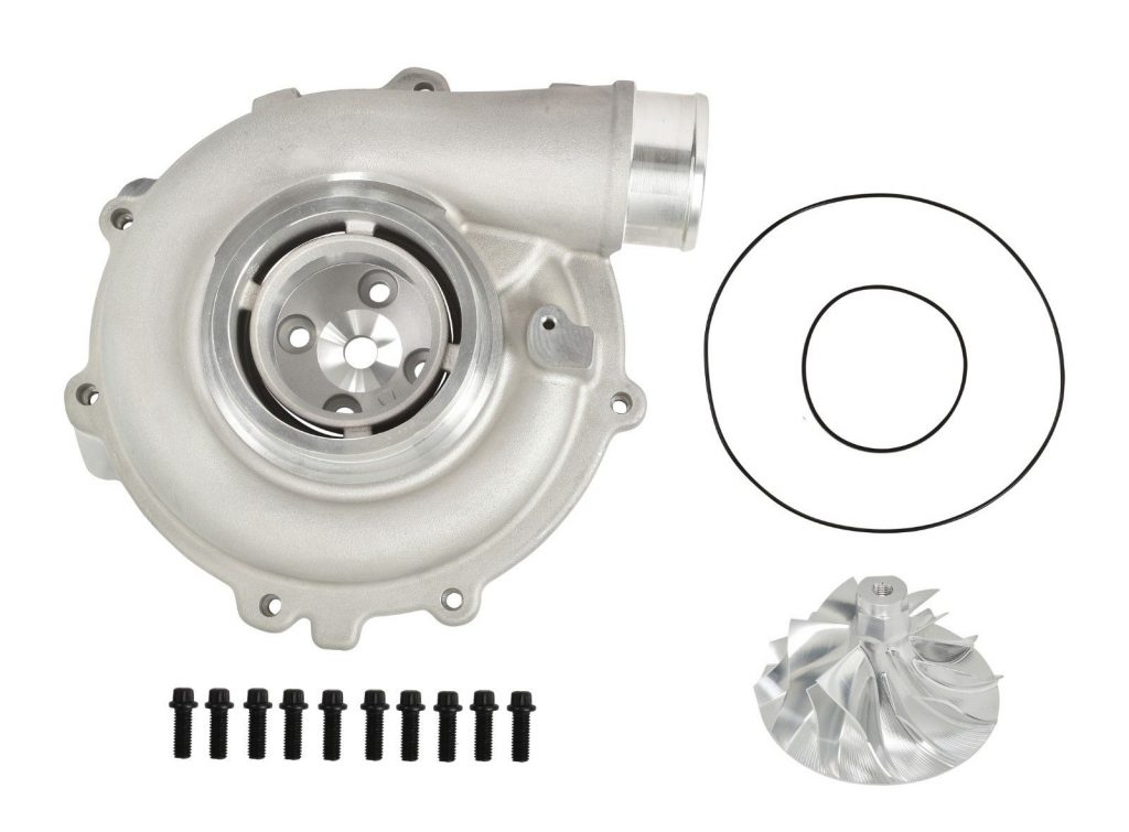 SPOOLOGIC 6+6 Billet Wheel + Compressor Housing for 03-07 6.0L Powerstroke