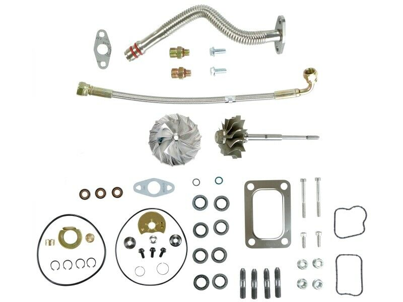 HE351VE Turbo Rebuild Kit Gaskets Lines Shaft Billet For 07.5-12 6.7L Dodge Ram