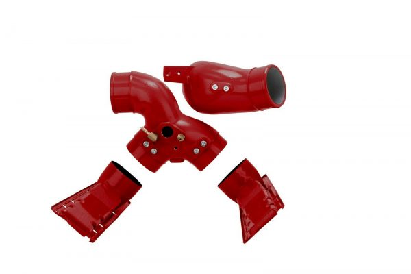 SPOOLOGIC Intake Manifold Plenums + Spyder Red for 99.5-03 7.3L Powerstroke