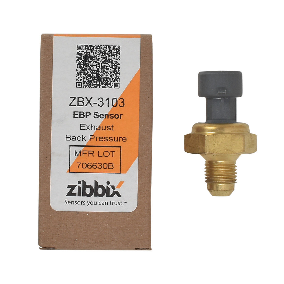 Zibbix ZBX-3103 EBP Exhaust Back Pressure Sensor For 08-10 6.4L 11-18 6.7L Ford Powerstroke Diesel