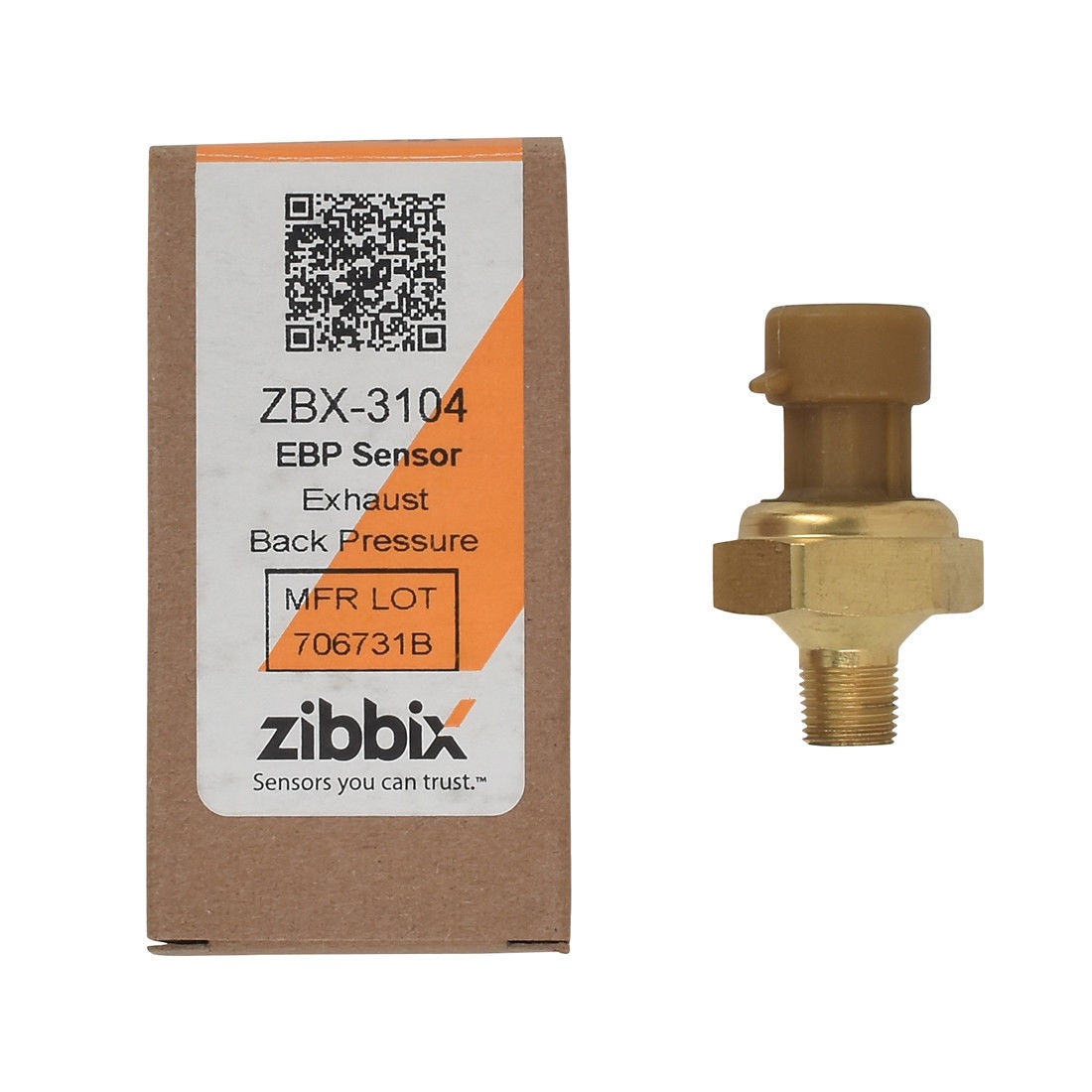 Zibbix ZBX-3104 EBP Exhaust Back Pressure Sensor For 04-07 International Navistar DT466 DT570