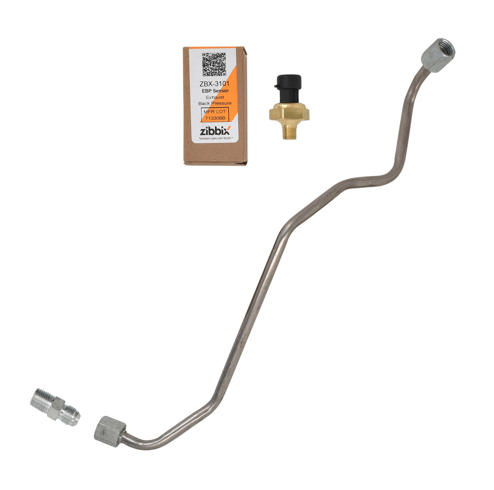 Zibbix ZBX-3101-TK2 EBP Exhaust Back Pressure Sensor Tube Kit For 99-03 7.3L Ford Powerstroke Diesel
