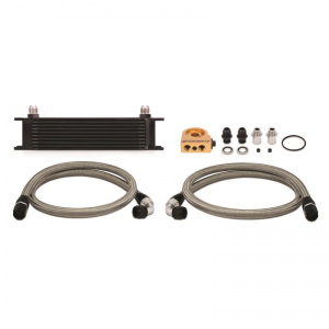 Mishimoto Universal 10-Row Thermostatic Oil Cooler Kit Black