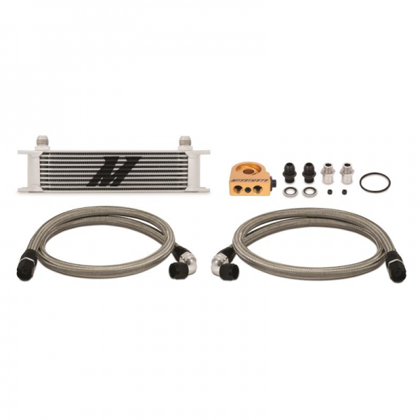 Mishimoto Universal 10-Row Thermostatic Oil Cooler Kit Silver