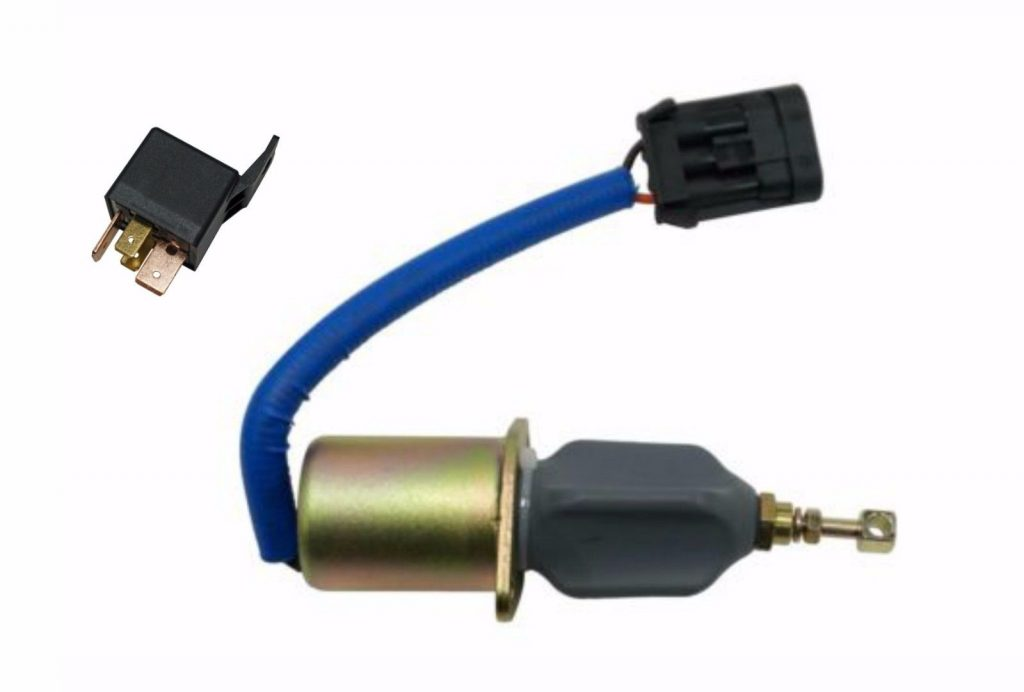 Fuel Shut Off Solenoid With Relay For 5.9L 94-98 Cummins 12V