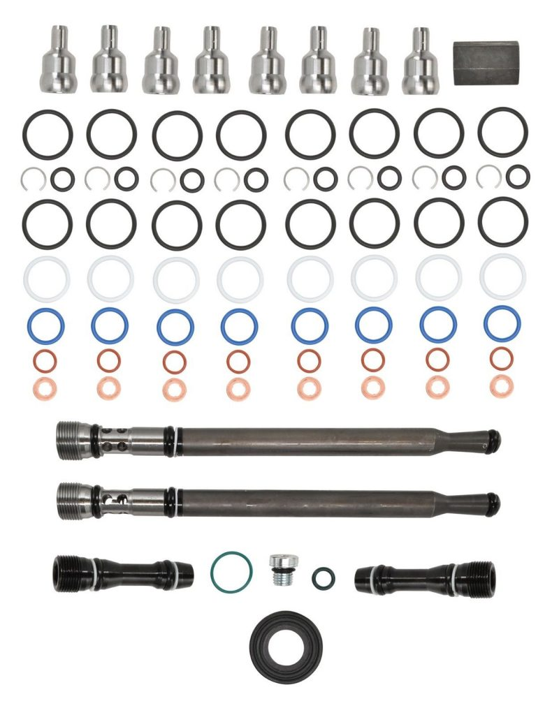 TrackTech Updated Stand Pipe + Dummy Plugs + Ball Tubes + Injector O-Rings for 04.5-10 Powerstroke