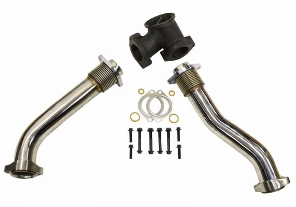 SPOOLOGIC Exhaust Up-Pipes 304SS Polished for 99.5-03 7.3L Powerstroke