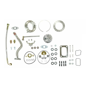 HE351VE Turbo Rebuild Kit Gaskets Lines VGT Billet For 07.5-12 6.7L Dodge Ram