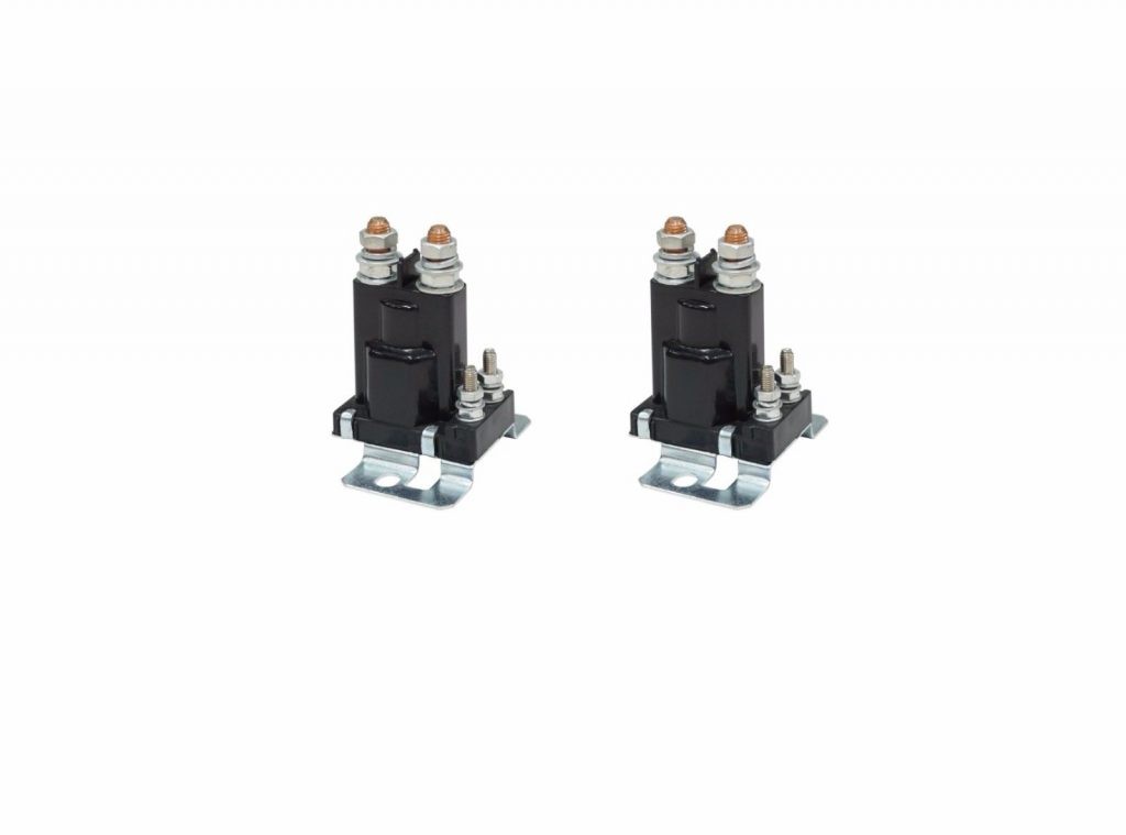 Set of 2 Air Intake Heater Grid Relay Solenoid for 03-05 5.9L Cummins 24V