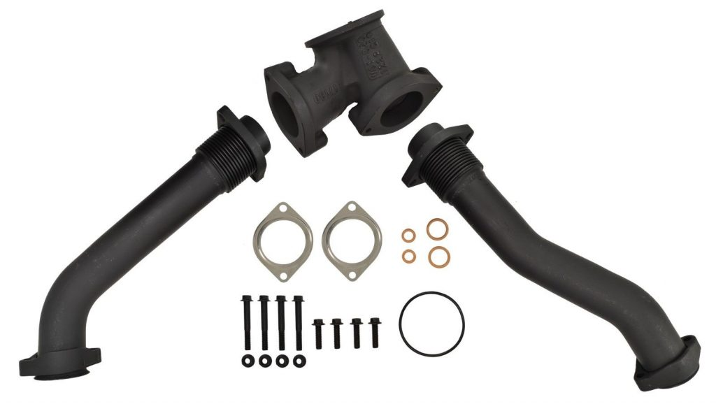 SPOOLOGIC Exhaust Up-Pipes And Gaskets for 99.5-03 7.3L Powerstroke