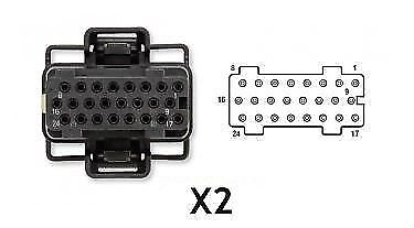 Fuel Injection Control Module (FICM) Connector X2 for 03-10 6.0L Powerstroke