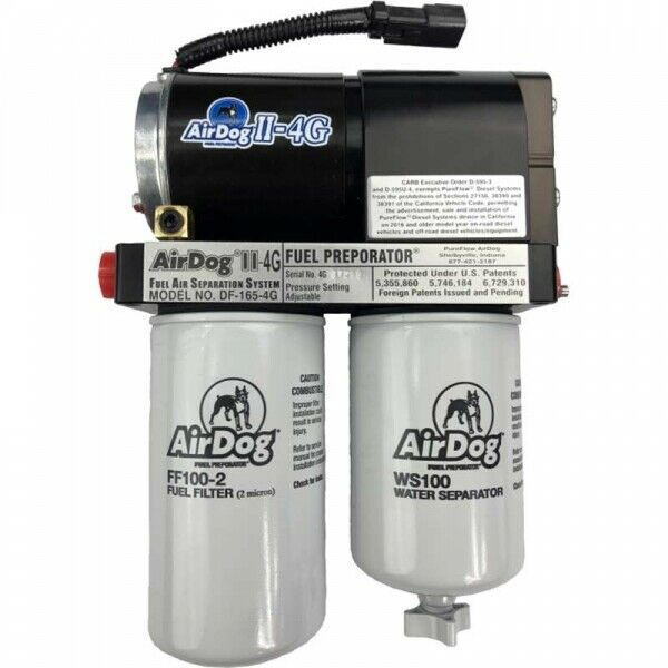 AirDog II-4G DF-165 Fuel Air Separation System for 01-10 LB7 LLY LBZ LMM Duramax