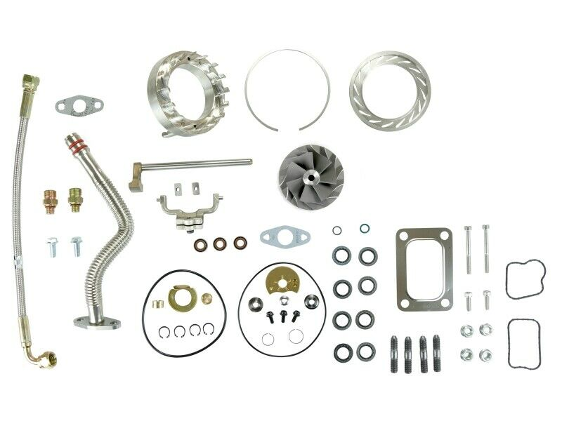 SPOOLOGIC HE351VE Turbo Rebuild Kit Gaskets Lines VGT Cast for 07.5-12 6.7L Cummins 24V